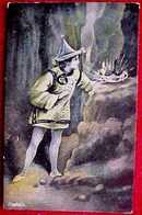 Cpa  ALADIN Et Sa LAMPE MAGIQUE , Chapeau Chinois , Tunique , 1907 , ALADDIN  AND MAGIC LAMP . BB LONDON - Fairy Tales, Popular Stories & Legends