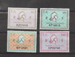 Série Timbres Fiscaux - 4 Timbres Amende Millésime 01 - Revenue Stamps