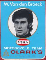 W. Van Den Broeck Grand Prix Motorcycle Team Clark's Road Racer Pilota Motociclistico Moto Sticker Autocollant - Autocollants