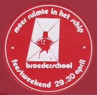 Sticker Autocollant Broederschool Feestweekend Adhesivo Aufkleber - Autocollants