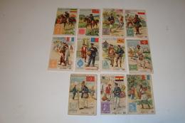 11 Chromo's Collection La Poste - Verzameling De Post ( Verschillende Uitgevers ) - Chromos