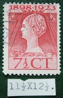 Regeringsjubileumzegel 7 1/2 Ct NVPH 123H 123 H (Mi 125) 1923 Gestempeld / USED NEDERLAND / NIEDERLANDE - Used Stamps