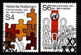Nations Unies Wenen 1981 Mi.Nr: 17-18 Jahr Der Behinderten  Oblitèré / Used / Gebruikt - Centre International De Vienne