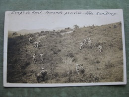 CPA - MILITAIRES à SAN DIEGO / EL SALVADOR 1921 ( Scan Recto/verso ) - Militaria