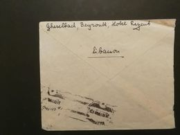 Liban Lebanon From Germany To Lebanon 1948 With Fiscal Rare Stamps - Lebanon
