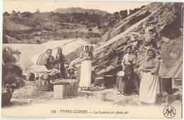 TYPES CORSES Le Lessive En Plein Air Animee   Corse Corsika Korsika TOP-Erhaltung Ungelaufen - France