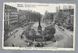 BE.- BRUSSEL. BRUXELLES. La Place De Brouckère Vue à Vol D'oiseau. 1938. Old Cars. - Monumenten, Gebouwen