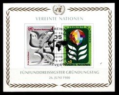 Nations Unies Wenen 1980 Mi.Nr: Block 1 35.Jahre Vereinte Nationen UNO  Oblitèré / Used / Gebruikt - Oblitérés