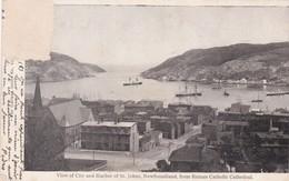 VIEW OF CITY AND HARBOR  OF ST JOHNS, NEWFOUNDLAND. THE GARLAND SERIES CIRCULEE 1904 TIMBRE ARRACHE - BLEUP - Terre-Neuve & Labrador