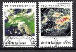 Nations Unies Wenen 1989 Mi.Nr: 92-93 Weltwetterwacht... Oblitèré / Used / Gebruikt - Centre International De Vienne