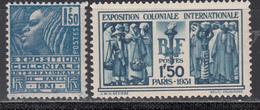1930-31   Yvert Nº 273, 274   MNH - Francia