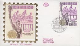 Enveloppe  FDC  1er   Jour  MONACO   Finale  IAAF  D' ATHLETISME    1995 - Athlétisme