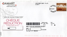 LSC 2012 - Entête DAMART & Timbre Préimprimé (entier Postal)  CHATONS Dans Panier - Chats Domestiques