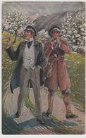 WW II  MILITARY Fin De Guerre 1914 1918 Flute Player  O Peter Der Mai Ist Gekommen Art Postcard - War 1914-18
