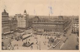 CPA - Belgique - Brussels - Bruxelles - Place Rogier Et Gare Du Nord - Spoorwegen, Stations