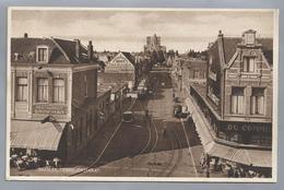 NL.- HAARLEM. TEMPELIERSTRAAT. Old Cars. Tram Restaurant Brinkman. Uitgave: J.P. Exel. Ongelopen. - Haarlem
