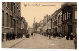 Comines Nord, Rue De La Republique, Alte Postkarte 1917 - Lambersart