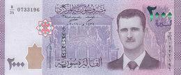 SYRIA 2000 LIRA POUNDS 2017 P-117 UNC */* - Syria