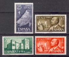 Ifni 1961 - XXV A. Franco Ed 179-82 (**) - Ifni