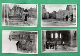 Haute Vienne Oradour Sur Glane Lot De 4 Photos D 'amateur 6 Aout 1047 Format 7,7cm X 11,8cm Voir 6 Scans - Lieux