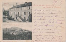 57 - CHATEL ST GERMAIN - 2 VUES  - RESTAURANT ROSENVILLA - France