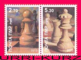 TRANSNISTRIA 2013 Sports Chess Famous People Grandmaster A.S.Lutikov Birth 60th Anniversary 2v Se-tenant MNH - Chess