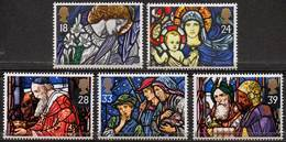 GREAT BRITAIN 1992 Christmas: Stained Glass Windows - 1952-.... (Elizabeth II)