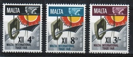 Malta Complete Set Of Stamps To Celebrate International Trade Fair 1968. - Malta