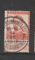 COB 118 Oblitération Centrale ST-GILLES (Bruxelles) 3 - 1912 Pellens