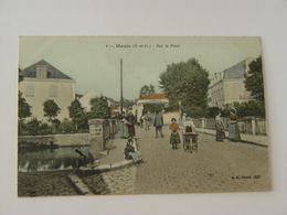 YVELINES-MAULE-4-SUR LE PONT ED BF PARIS ANIMEE - Maule