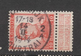 COB 123 Oblitération Centrale COURTRAI 2A - 1912 Pellens