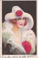 PIERROT COLOMBINA ILLUSTRATION ARTISTE A IDENTIFIER CPA VOYAGEE YEAR 1928 - BLEUP - Illustrateurs & Photographes