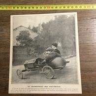 1905/1906 LE CHAMPIONNAT DES TOUT PETITS LA BARAQUE PRES DE CLERMONT FERRAND AUTOMOBILE ENFANTS SANS MOTEUR - Alte Papiere
