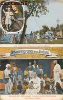 INDE INDIA MAIENGRUSS AUS INDIEN FETE RELIGION ZENTRAL-INDIEN MISSIONARS - Inde