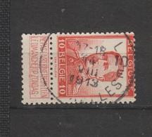COB 118 Oblitération Centrale BRUXELLES 10E - 1912 Pellens