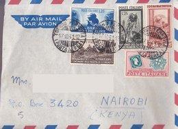 Aerogramma Diretto In Kenia Da Torino - 1951 - Levante -  Michetti - Cicli - Sardo - Lavoro -  Valori Da 25 Lire - 6. 1946-.. Repubblica