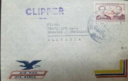 O) 1947 ECUADOR,CLIPPER, MIGUEL DE CERVANTES SAAVEDRA - NOVELIST - JUAN MONTALVO WRITER - SCT C204, AIRMAIL FROM QUITO - Ecuador