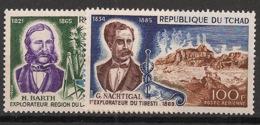 Tchad - 1969 - Poste Aérienne PA N°Yv. 53 à 54 - Explorateurs - Neuf Luxe ** / MNH / Postfrisch - Chad (1960-...)