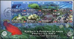 Kiribati 2012. Phoenix Island Protected Area (Mint) First Day Cover - Kiribati (1979-...)