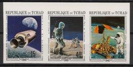 Tchad - 1970 -  N°Mi. 291 à 293B - Apollo - Non Dentelé / Imperf. - Neuf Luxe ** / MNH / Postfrisch - Afrique