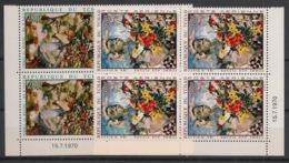 Tchad - 1970 - Poste Aérienne PA N°Yv. 73 Et 74 - Tableaux / 2 Blocs De 4 Coin Daté - Neuf Luxe ** / MNH / Postfrisch - Chad (1960-...)