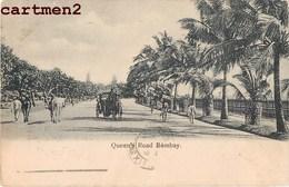 INDE INDIA BOMBAY QUEEN'S ROAD 1900 + STAMP - India