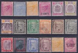 Insediamenti-dello-Stretto-Selangor-sungei-1882-18v-MH-usato - Malesia (1964-...)