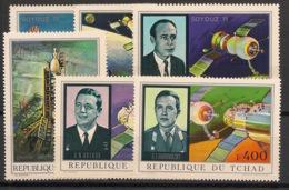 Tchad - 1972 - Poste Aérienne PA N°Yv. 105 à 110 - Soyouz 11 - Neuf Luxe ** / MNH / Postfrisch - Afrika