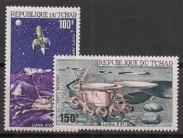 Tchad - 1972 - Poste Aérienne PA N°Yv. 125 Et 126 - Luna 16 - Neuf Luxe ** / MNH / Postfrisch - Afrika