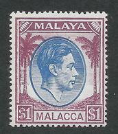 BRITISH MALAYA PAHANG 1949 KGVI 1 1/2d Blue&purple, MNH** SG 15  -  Catalog Value £ 20 - Malesia (1964-...)