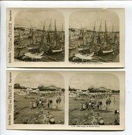 Royan  Photos Stéréoscopiques (2) Port Et Grande Conche - Stereoscopic