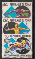 Tchad - 1972 - N°Yv. 255 à 257 - Olympics / Munich 72 - Neuf Luxe ** / MNH / Postfrisch - Verano 1972: Munich