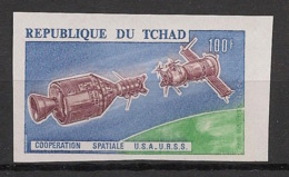 Tchad - 1975 - PA N°Yv. 157 - Cooperation US / USSR - Non Dentelé / Imperf. - Neuf Luxe ** / MNH / Postfrisch - Afrika