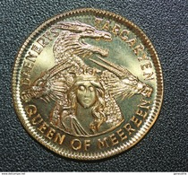 "Rare Jeton Bronze "" One Mark / Game Of Thrones "" Dragon - Fantaisy Token - Jetons & Médailles"